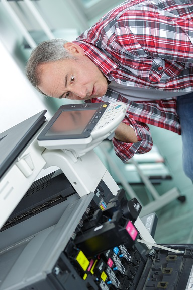 zepsuta drukarka